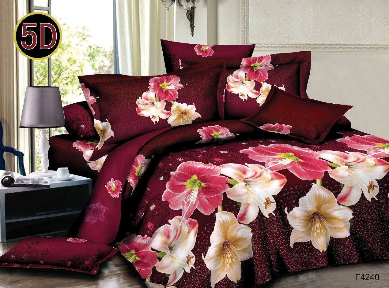Постельное белье Росса 5D (полисатин) (1,5 спальный) постельное белье эго комплект 1 5 спальный полисатин