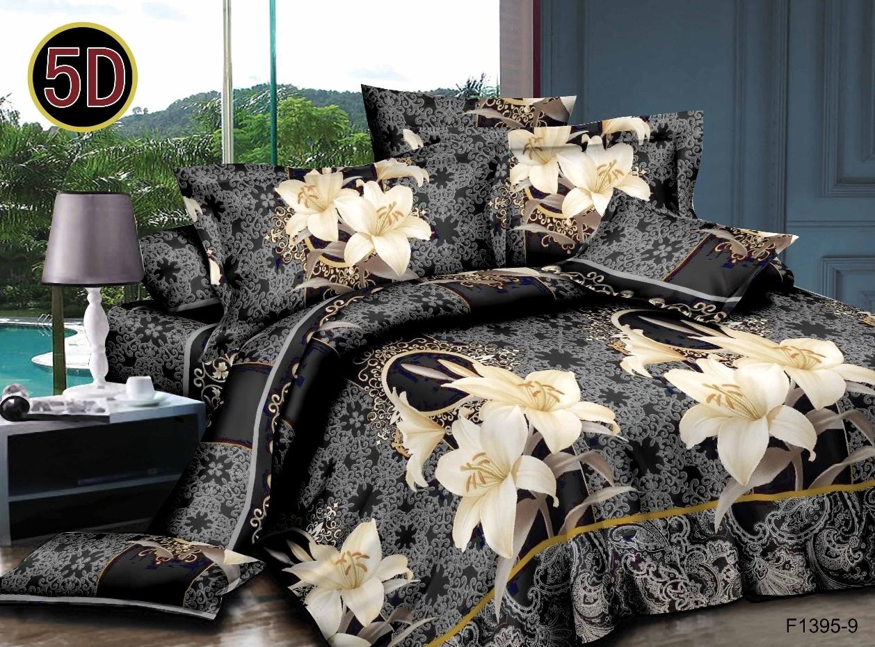 Постельное белье Жаннет 5D (полисатин) (1,5 спальный) постельное белье мегаполис 5d полисатин 1 5 спальный