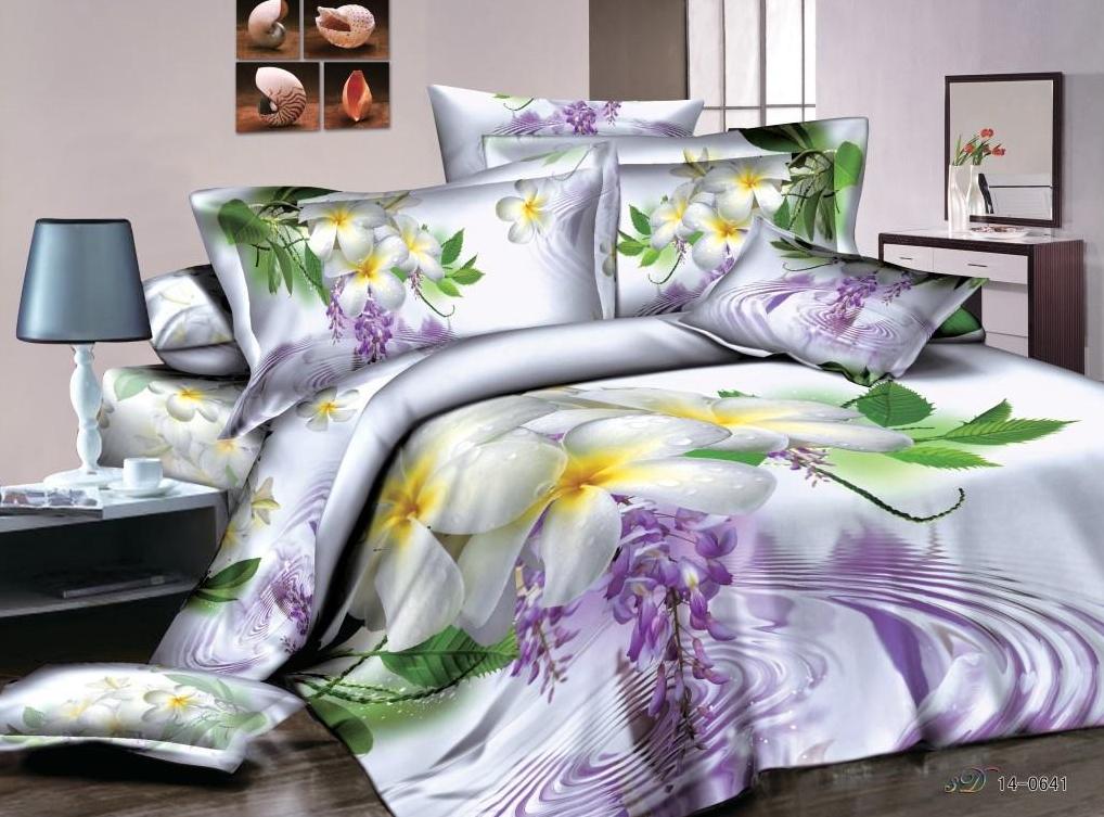 Постельное белье Марлен 3D (сатин) (2 спальный с Евро простынёй) мартекс постельное белье сатин 3d 2 сп шанс