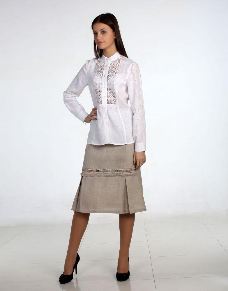 """Льняная юбка с вышивкой """"Элизабет"""" недорго, оригинальная цена"""