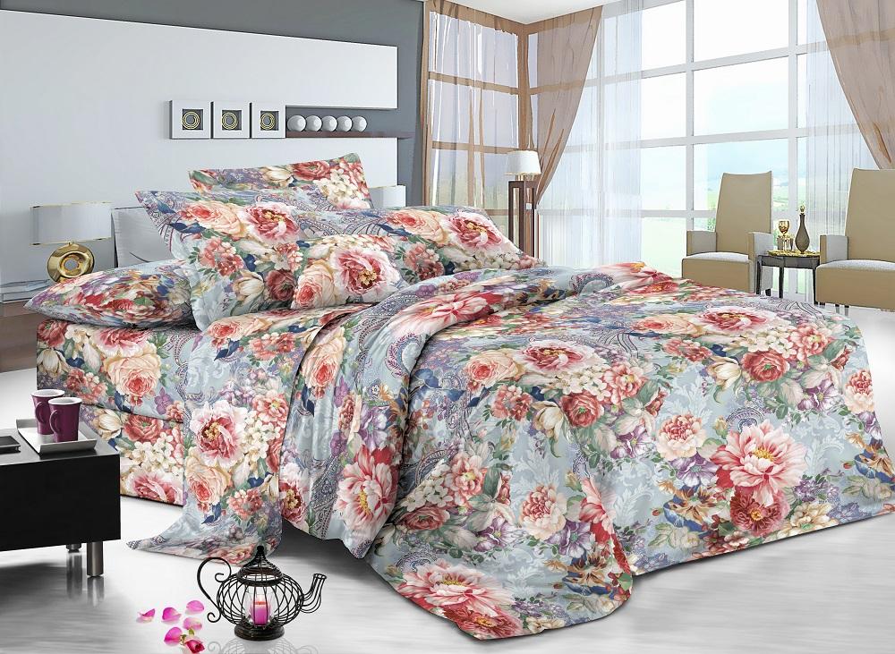 Постельное белье iv42582 (поплин) (1,5 спальный) постельное белье iv54872 поплин 1 5 спальный