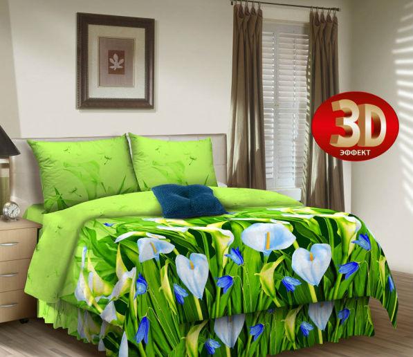 """Постельное белье """"Осака"""" 3D (поплин) 2 спальный"""