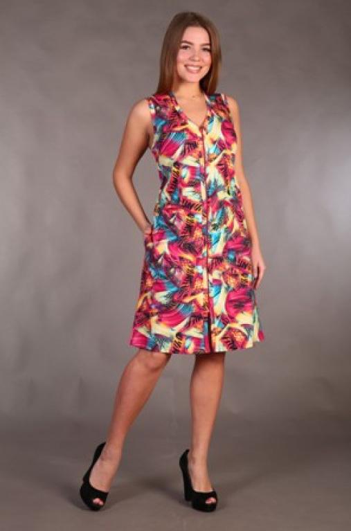 Халат женский #Цветной#, Размер: 58 - Халаты - Легкие халаты