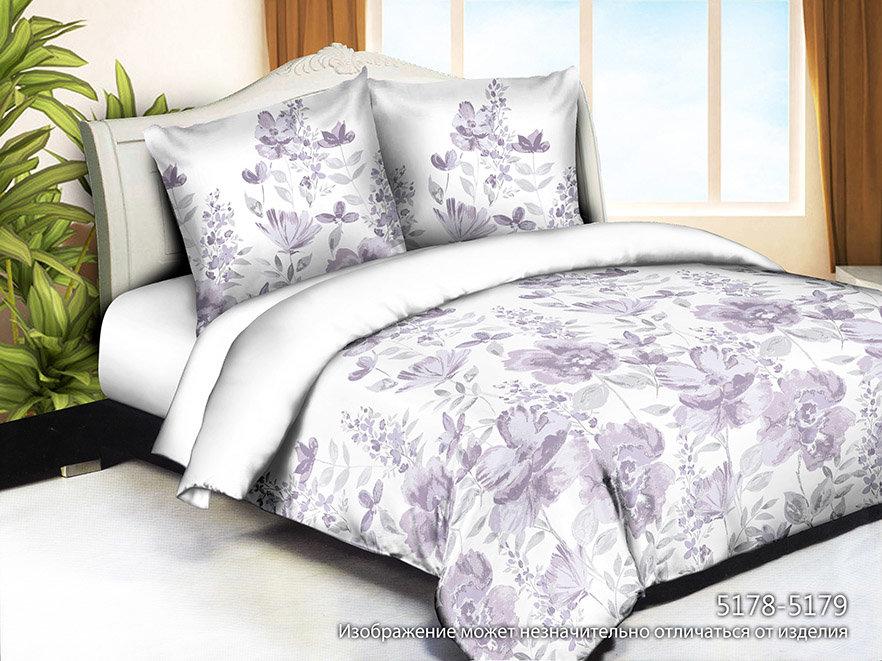 Постельное белье Цветочные объятия (полисатин) (1,5 спальный) постельное белье сирень виола необыкновенная комплект 1 5 спальный полисатин 08464 кпб