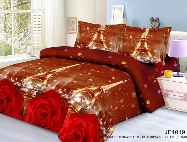Постельное белье Ovonavi-1421 (полисатин) (Семейный) постельное белье король лев 3d полисатин