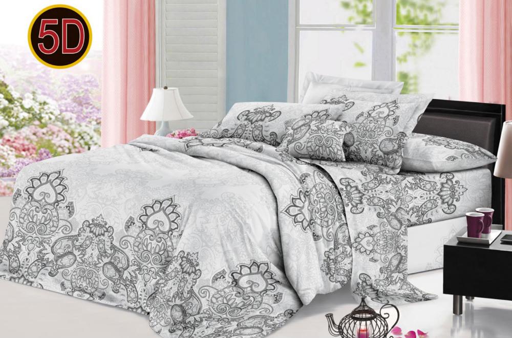 Постельное белье 'Ажур 5D (полисатин) (1,5 спальный) постельное белье эго комплект 1 5 спальный полисатин