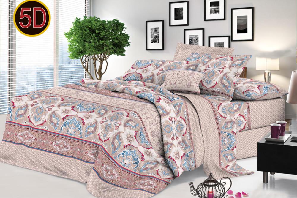 Постельное белье 'Элла 5D (полисатин) (1,5 спальный) постельное белье эго комплект 1 5 спальный полисатин