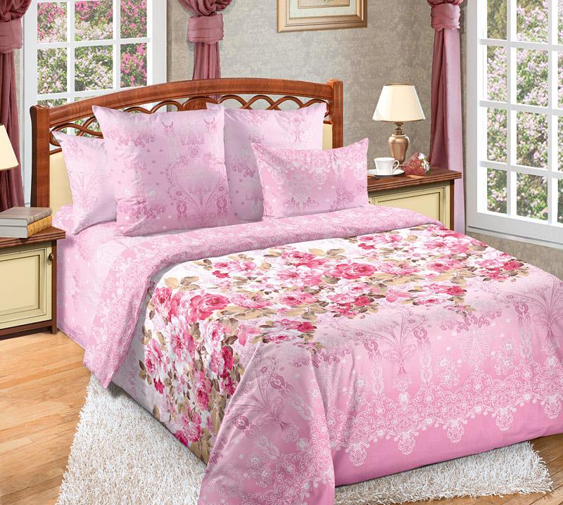 Постельное белье Мадемуазель (перкаль) (1,5 спальный) постельное белье унисон россини 15375 1 15376 1 комплект 2 спальный перкаль 450154