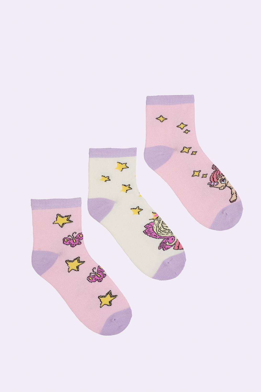 белье acoola носки детские 3 пары цвет ассорти размер 18 20 32214420032 Носки детские iv26814 (упаковка 3 пары) (18-20)