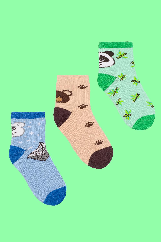 Носки детские Медведи (упаковка 3 пары) (16-18) носки детские наше цвет темно синий 222с36 3 1 рис 17 размер 16 18 26 28