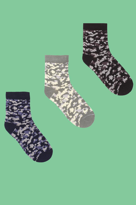 Носки детские Пиксель (упаковка 3 пары) (18-20) носки детские наше цвет темно синий 222с36 3 1 рис 17 размер 16 18 26 28