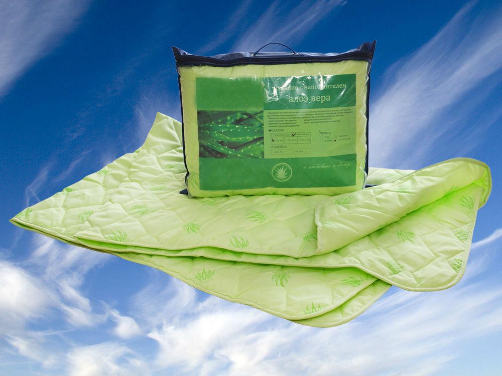 """Одеяло облегченное """"Сладкий сон"""" (алоэ-вера, полиэстер) 1,5 спальный (140*205) от Grandstock"""