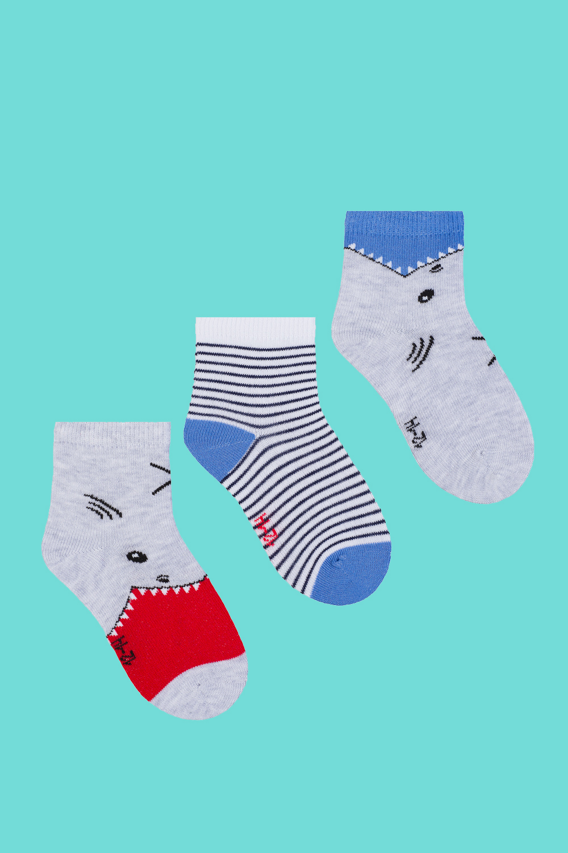 белье acoola носки детские 2 пары цвет ассорти размер 12 14 32224420037 Носки детские Акула (упаковка 3 пары) (12-14)