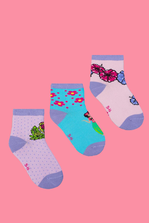 белье acoola носки детские 3 пары цвет ассорти размер 14 16 32224420039 Носки детские Гавайи (упаковка 3 пары) (14-16)