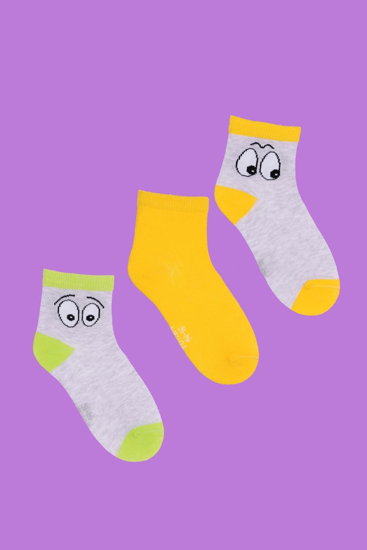 белье acoola носки детские 3 пары цвет ассорти размер 14 16 32224420039 Носки детские Глазки (упаковка 3 пары) (14-16)