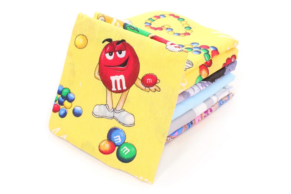 Наволочки детские бязь в ассортименте (пл. 105 грамм) (в упаковке 2 шт) 50*50