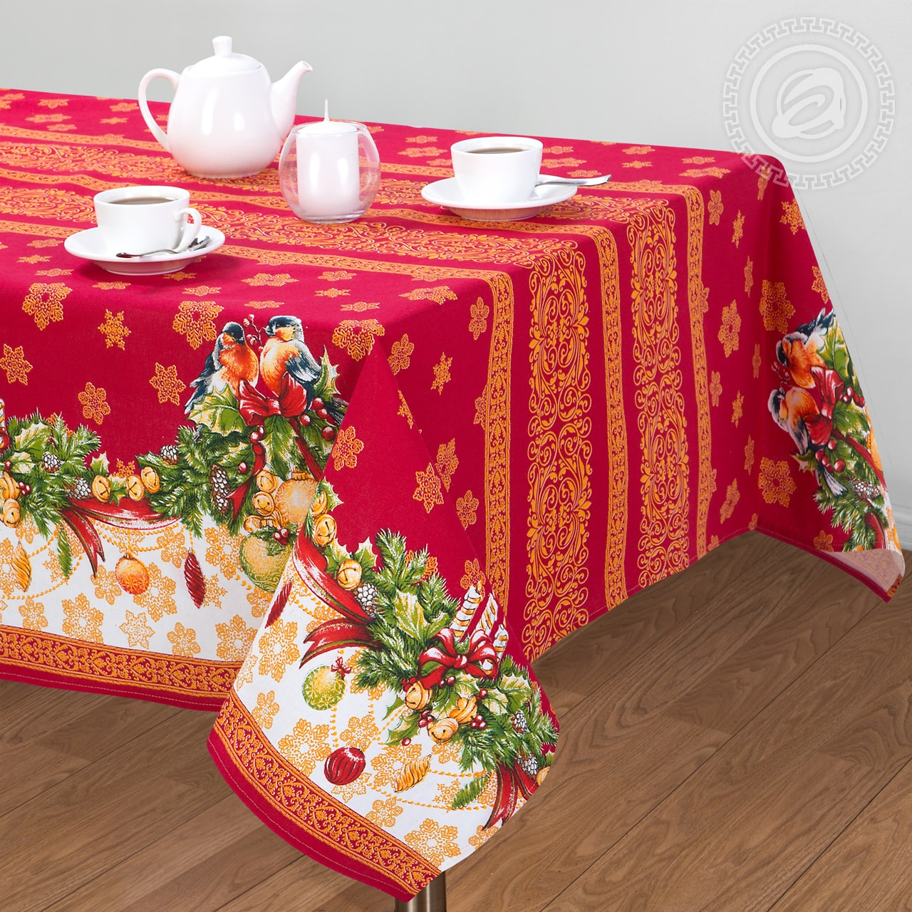 """Скатерть столовая """"Рождество"""" 120*145"""