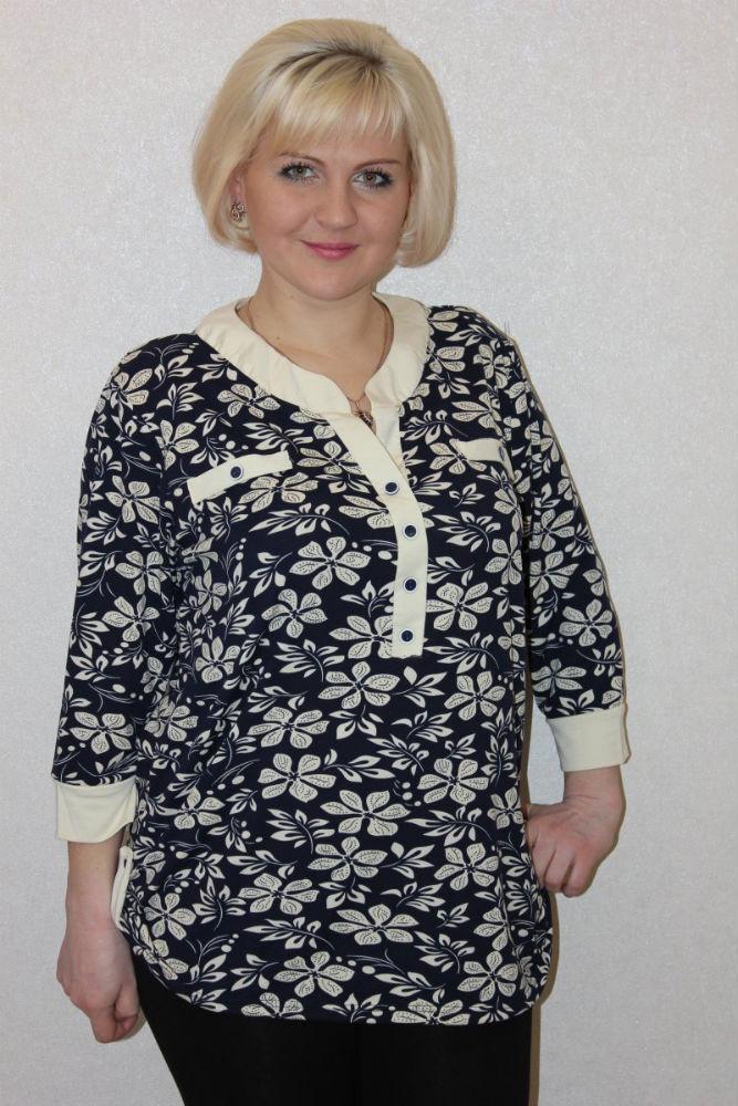 """Блузка женская """"Цветочек"""" 54"""
