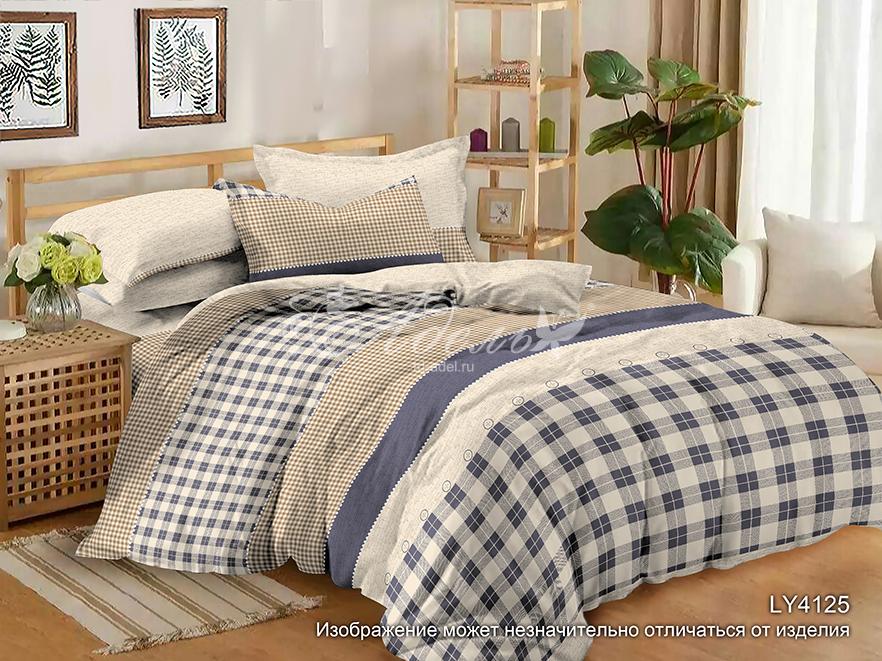 Постельное белье iv72855 (полисатин) (2 спальный с Евро простынёй)
