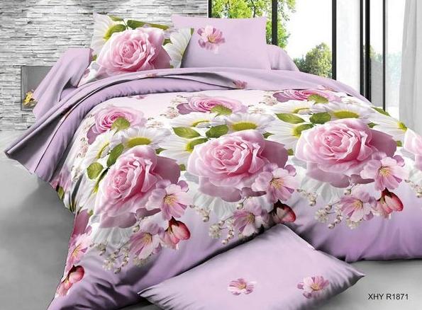 Постельное белье iv63714 (полисатин) (1,5 спальный) постельное белье сирень лучшие друзья комплект 1 5 спальный полисатин кпбм 08675