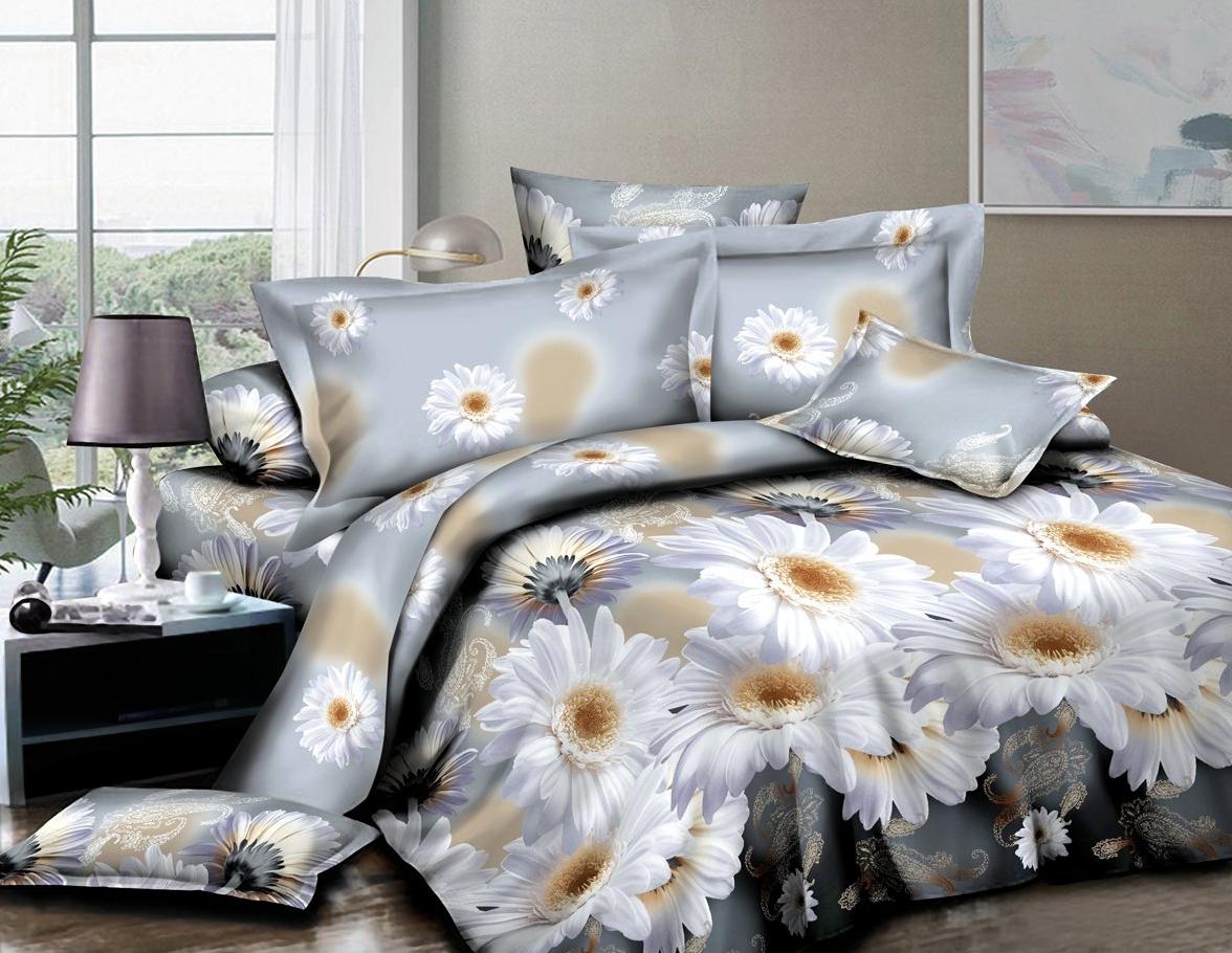 Постельное белье iv63717 (полисатин) (1,5 спальный) постельное белье сирень лучшие друзья комплект 1 5 спальный полисатин кпбм 08675