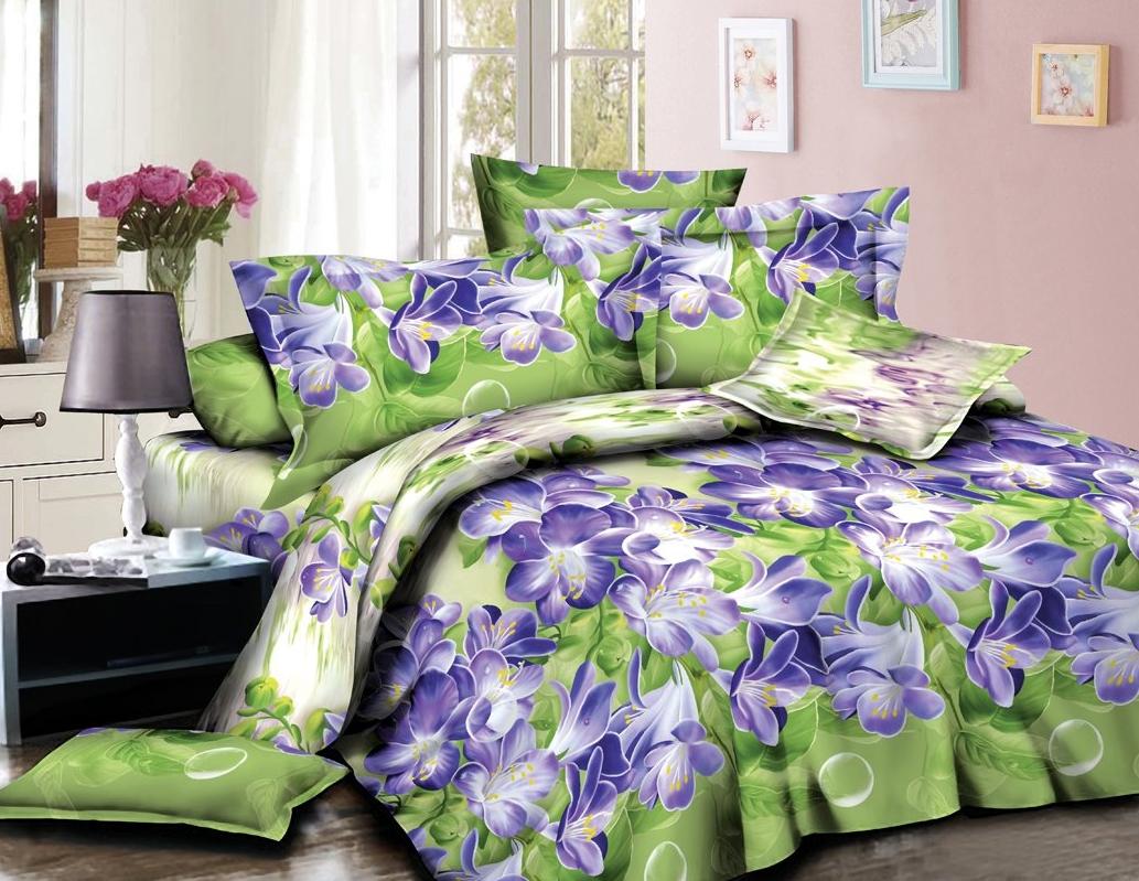 Постельное белье iv63724 (полисатин) (1,5 спальный) постельное белье сирень лучшие друзья комплект 1 5 спальный полисатин кпбм 08675