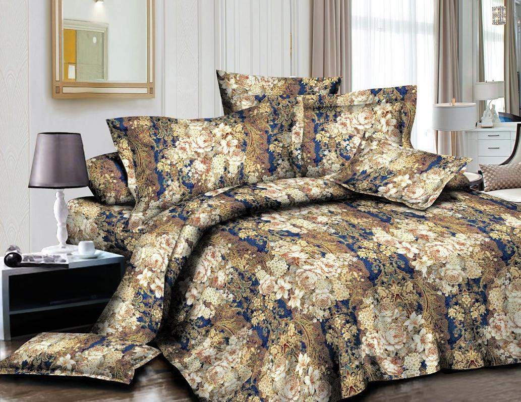 Постельное белье iv63726 (полисатин) (1,5 спальный) постельное белье сирень лучшие друзья комплект 1 5 спальный полисатин кпбм 08675