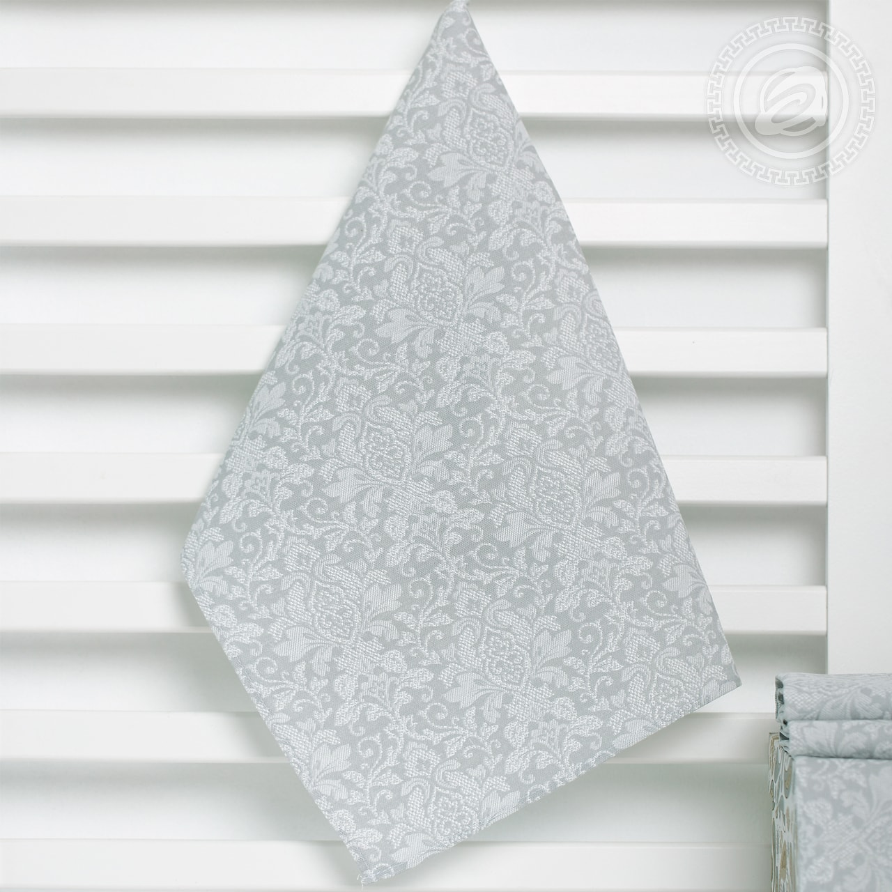 купить Кухонное полотенце Вензель серый (50х70) дешево