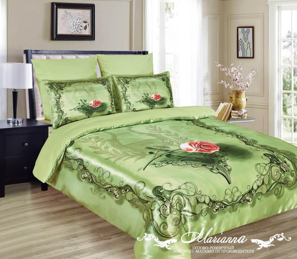 Постельное белье Жизель 3D (микрофибра) (Евро-1) постельное белье diva afrodita premium 3d pr 279 двуспальное