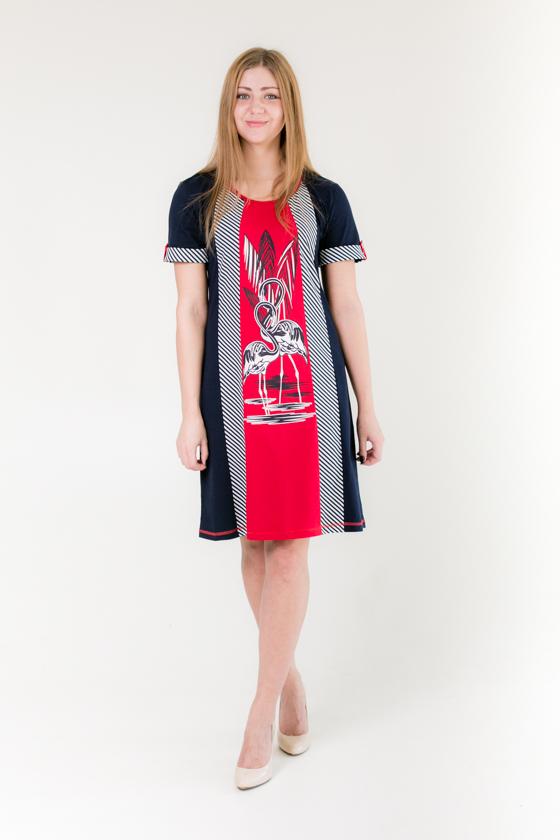 "Платье женское ""Фламинго"" 58"