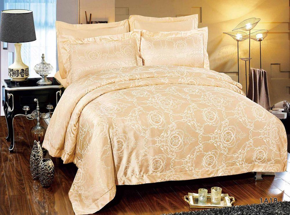 Постельное белье Джэнси (сатин-жаккард) (1,5 спальный) постельное белье игрушки розовый сатин 1 5 спальный