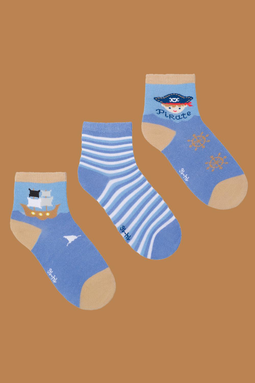 белье acoola носки детские 3 пары цвет ассорти размер 14 16 32224420039 Носки детские Пират (упаковка 3 пары) (14-16)