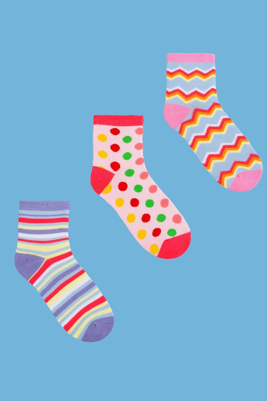 белье acoola носки детские 3 пары цвет ассорти размер 18 20 32214420032 Носки детские Радуга (упаковка 3 пары) (18-20)
