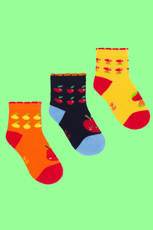 белье acoola носки детские 2 пары цвет ассорти размер 12 14 32224420037 Носки детские Сад (упаковка 3 пары) (12-14)