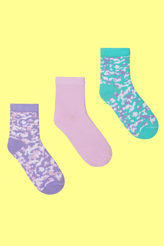 Носки детские Тетрис (упаковка 3 пары) (18-20) носки детские наше цвет темно синий 222с36 3 1 рис 17 размер 16 18 26 28