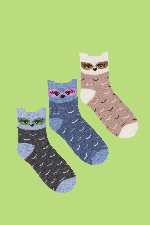 белье acoola носки детские 3 пары цвет ассорти размер 18 20 32214420032 Носки детские Филин (упаковка 3 пары) (18-20)