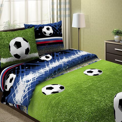 Фото - Постельное белье Футбольчик (бязь) (2 спальный с Евро простынёй) постельное белье этель кружева комплект 2 спальный поплин 2670978