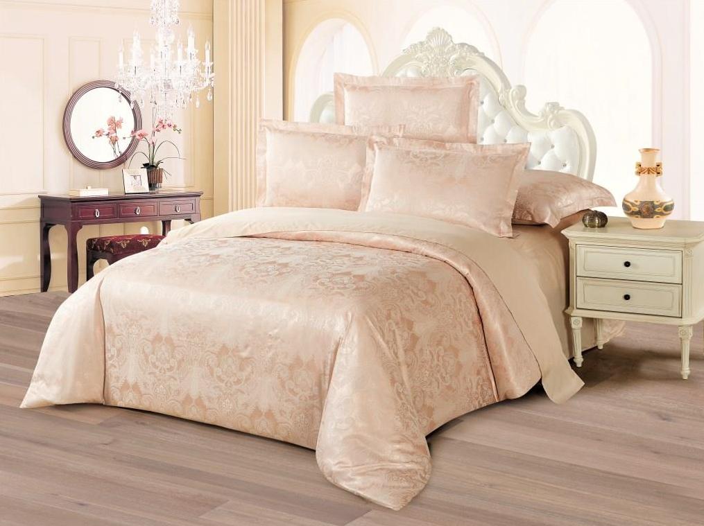 Постельное белье Джерба (сатин-жаккард) (2 спальный с Евро простынёй)