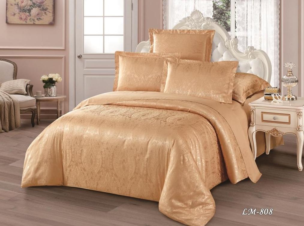 Постельное белье Ницца (сатин-жаккард) (2 спальный с Евро простынёй)