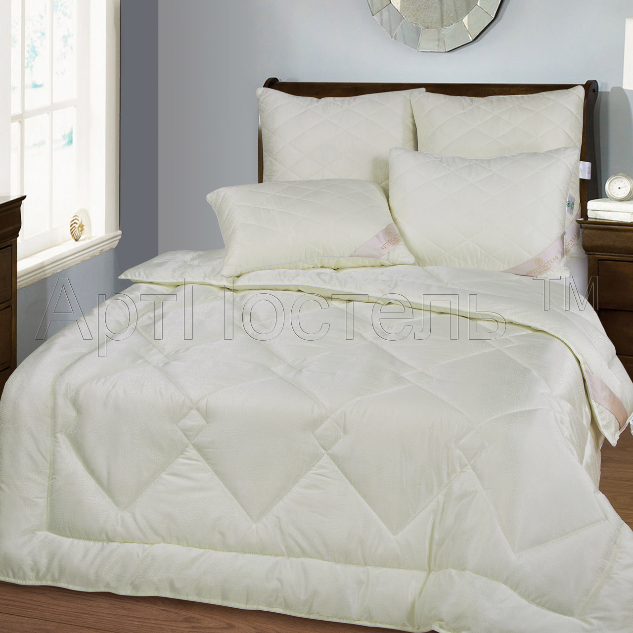 """Одеяло зимнее """"Приета"""" (кашемир, жаккард) 1,5 спальный (140*205) всего за 3589 рублей!"""