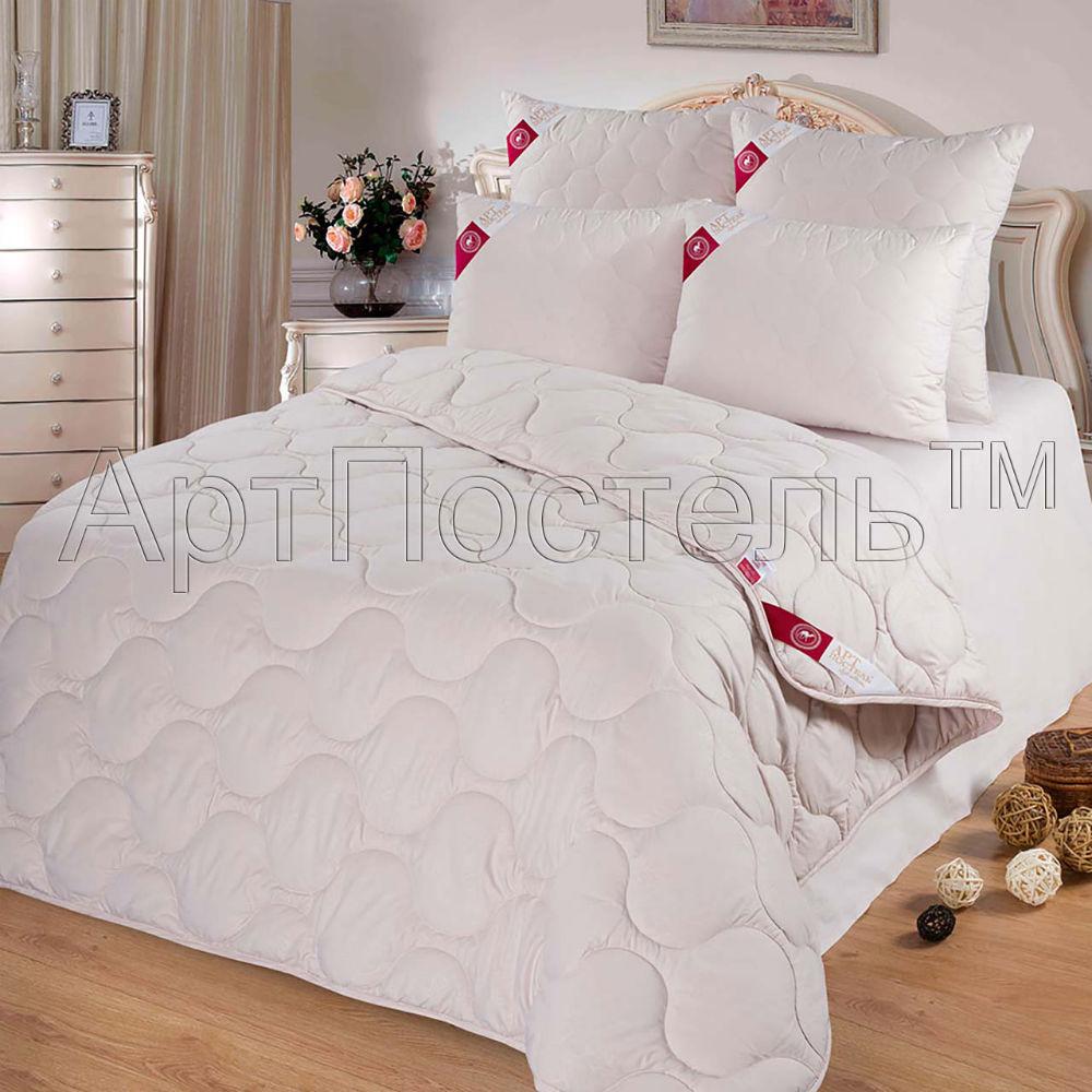 """Одеяло облегченное """"Полли"""" (верблюжья шерсть, микрофибра) 1,5 спальный (140*205)"""
