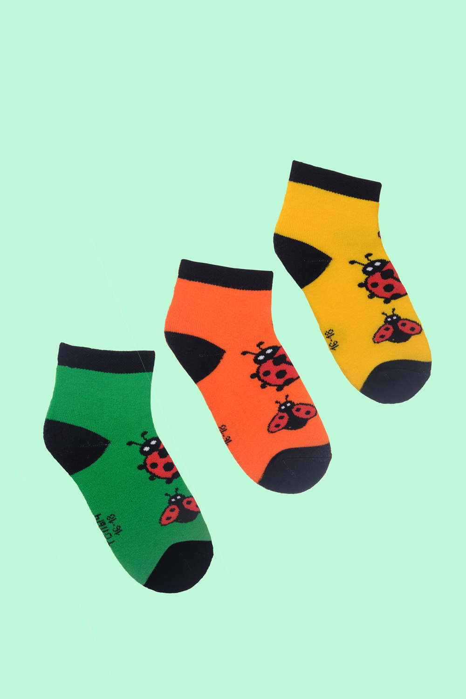 белье acoola носки детские 3 пары цвет ассорти размер 12 14 32224420038 Носки детские iv52994 (упаковка 3 пары)