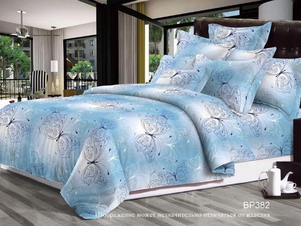 """Фото Постельное белье """"Голубые бабочки"""" (поплин) (1,5 спальный)"""