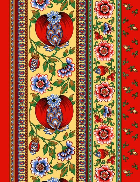 "Полотенце кухонное ""Гранатовый браслет"" (50х70)"
