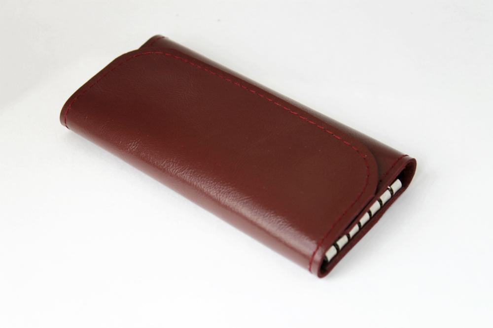 """Ключница кожаная """"Рокси"""" 6 ключей (малиново-коричневая) от Грандсток"""
