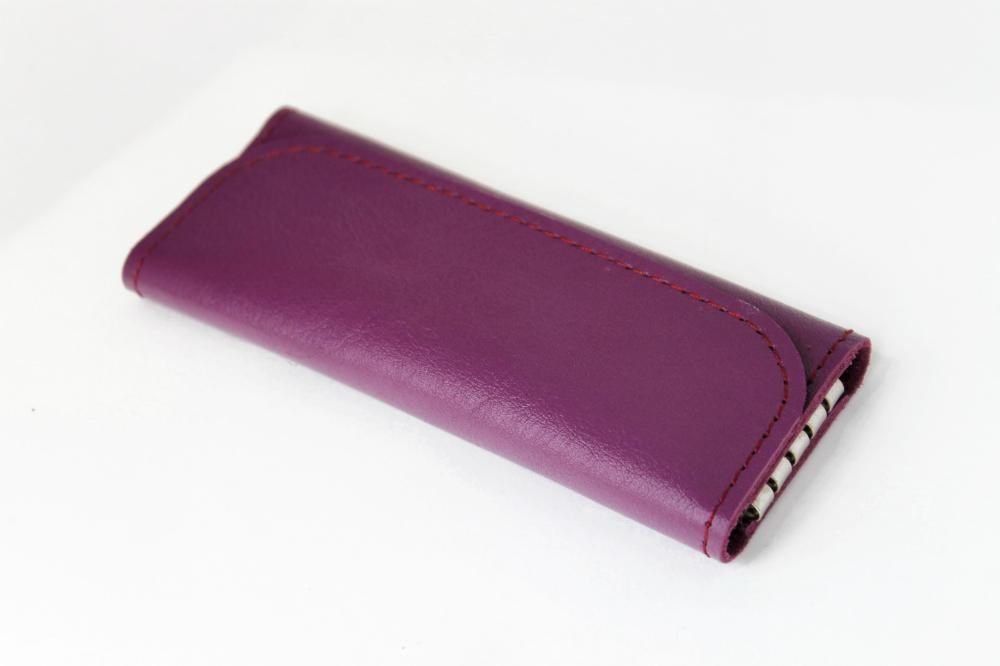 "Ключница кожаная ""Леди"" 4 ключа (фиолетовая) от Грандсток"