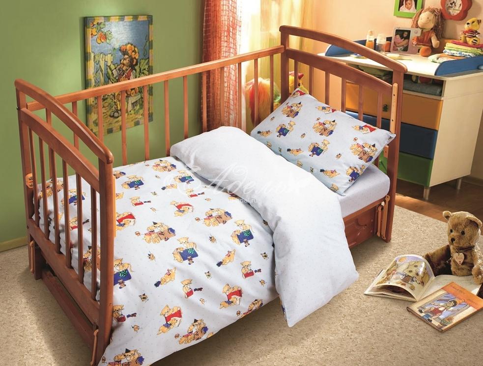 Постельное белье Котятки (поплин) (Ясельный) постельное белье неон синий бязь ясельный