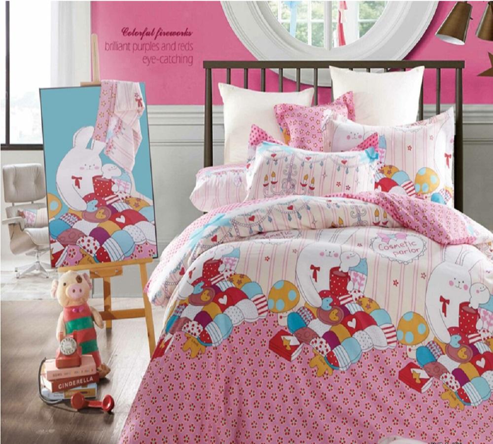 Постельное белье iv35372 розовый (сатин) (1,5 спальный) постельное белье софья сатин 1 5 спальный