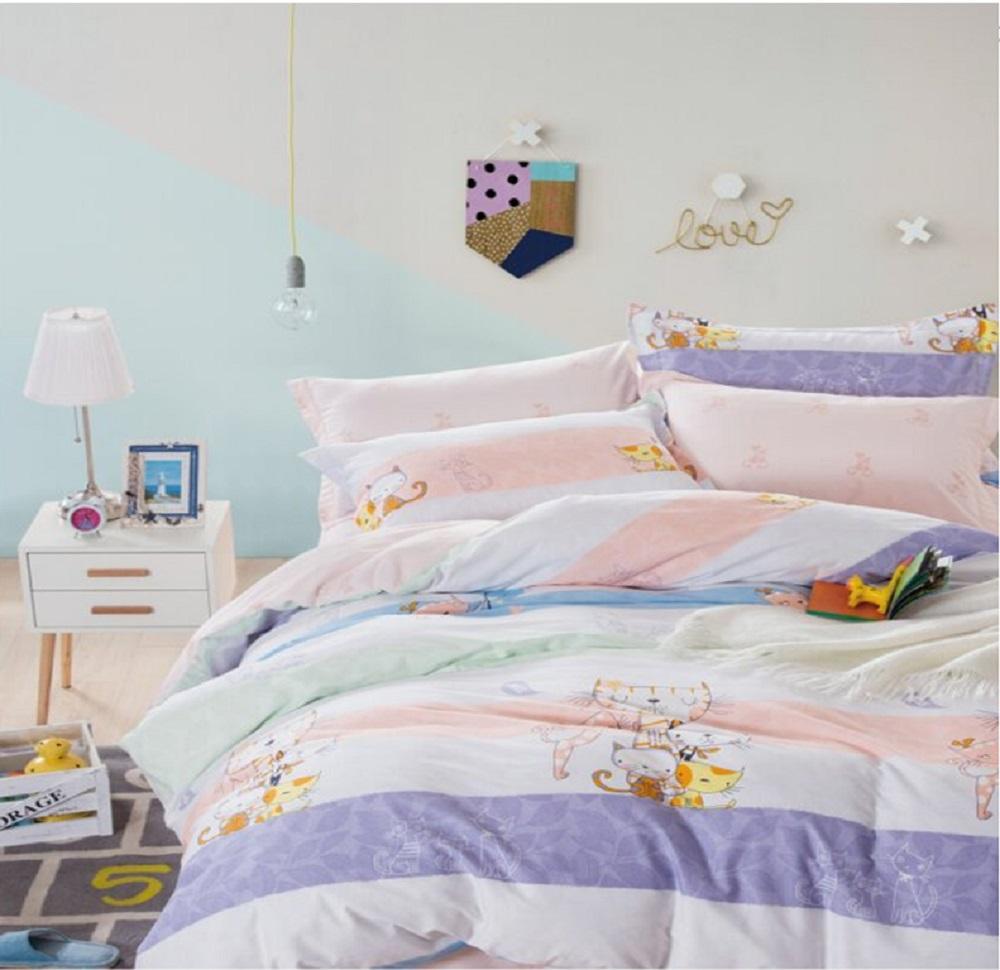 Фото - Постельное белье Котики (сатин) (1,5 спальный) постельное белье этель кружева комплект 2 спальный поплин 2670978