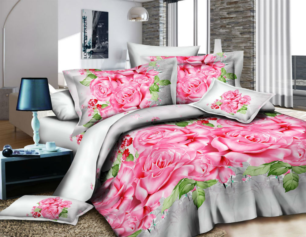 Постельное белье Розы 3D (полисатин) (1,5 спальный) постельное белье король лев 3d полисатин
